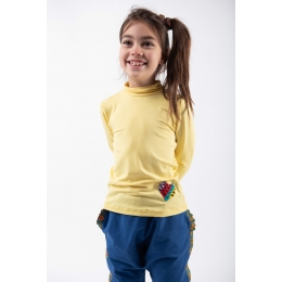 Stand-up Collar Blouse Pomelo Yellow