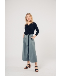 Pants Culotte Steel