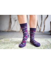 Socks Plum Leaf