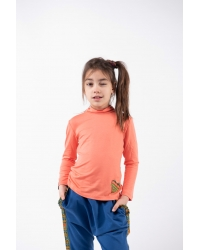 Stand-up Collar Blouse Pomelo Coral