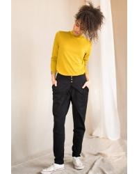 Pants Button Organic Black